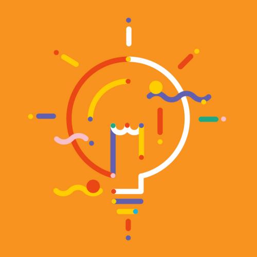 An illustrated lightbulb