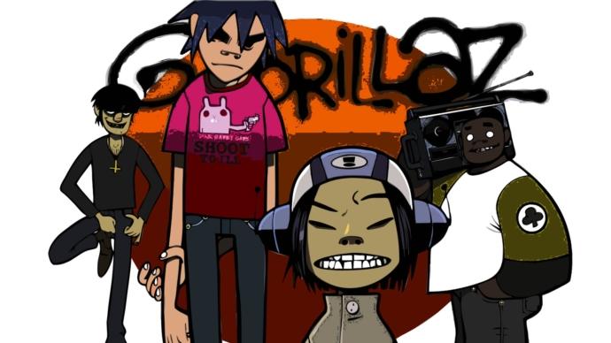 An image of the cartoon band Gorillaz