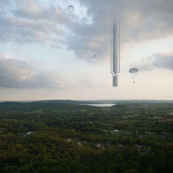 Asteroid skyscraper